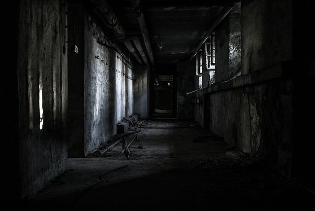 strašidelné místo