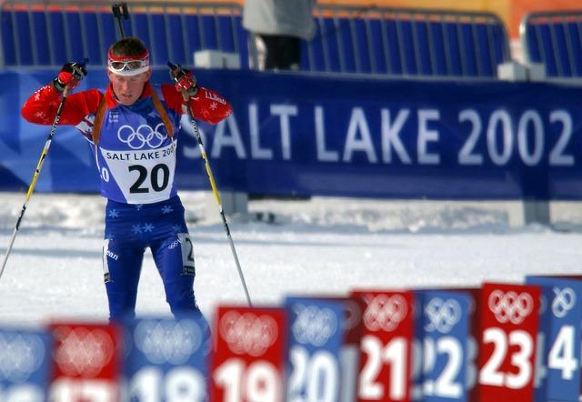 lyžař na olympiádě