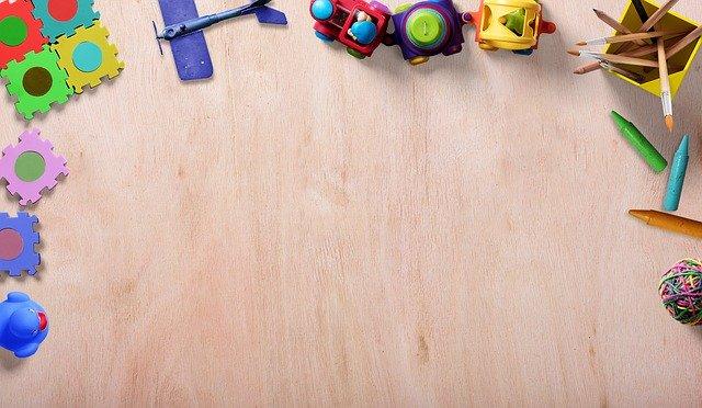 pohled na hračky